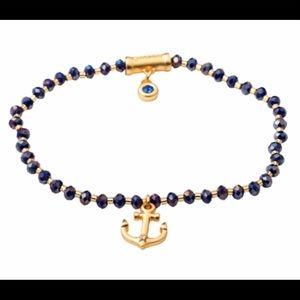 NWT Spartina 449 Twinkle Stretch Anchor Bracelet